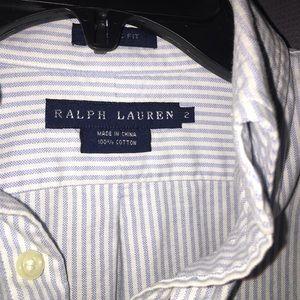 Ralph Lauren pinstriped classic button down